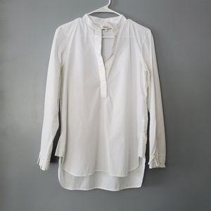 3.1 Phillip Lim White Popover Cotton Top